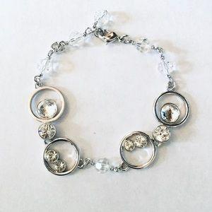 Swarovski Rhodium-plated Clear-Crystals Bracelet